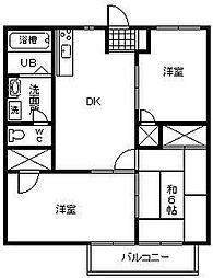 サンハイム平塚[A103号室]の間取り