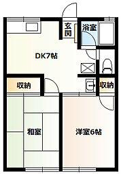 シティハイムアケボノB1階Fの間取り画像