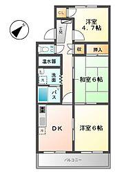 Mグランデ安永[3階]の間取り