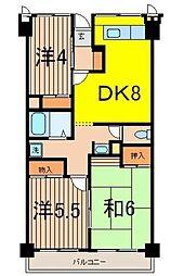 ソレイユ久保[4階]の間取り