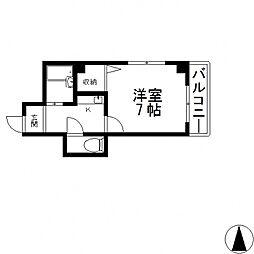 オーナーズマンション菱屋西[701号室号室]の間取り