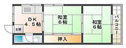 大阪府大阪市平野区長吉川辺1丁目の賃貸マンションの間取り