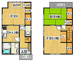 [一戸建] 千葉県船橋市咲が丘4丁目 の賃貸【/】の間取り
