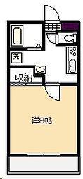 平尾コーポ[202号室]の間取り