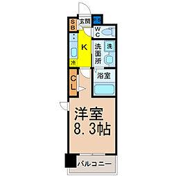 愛知県名古屋市西区菊井2丁目の賃貸マンションの間取り