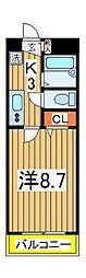 セナリオフォルム柏7[4階]の間取り