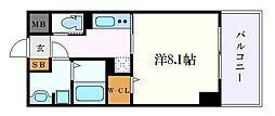 アリエッタNagoya 5階1Kの間取り
