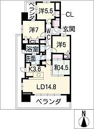 ライオンズ四日市富田ステーション1001号[10階]の間取り