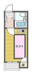 シャンクレール日本橋[4階]の間取り