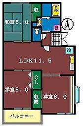 KS.グランメール汐見台[201号室]の間取り