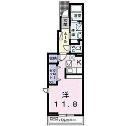 ブルームI[1階]の間取り