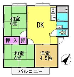 サンシティ栄 B[201号室号室]の間取り