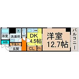 愛知県名古屋市中村区竹橋町の賃貸マンションの間取り
