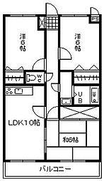 ラフィ-ナ・サイト[4階]の間取り