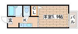 兵庫県明石市天文町2丁目の賃貸アパートの間取り