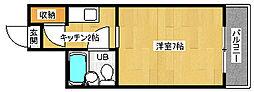 京都府宇治市五ケ庄の賃貸マンションの間取り