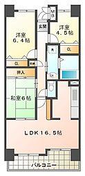 井吹西シティコート D2[2階]の間取り