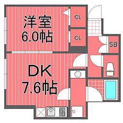 マイスターハウス川崎[1階]の間取り