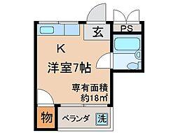 京都府京都市伏見区銀座町の賃貸マンションの間取り