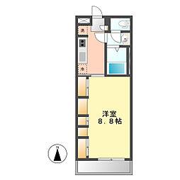 愛知県名古屋市西区児玉1丁目の賃貸アパートの間取り
