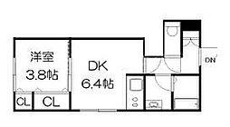 ラフレーズN34 East[3階]の間取り