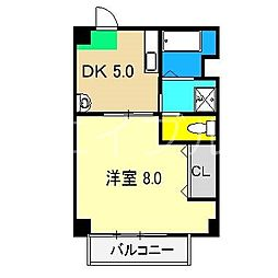 マルイマンション[4階]の間取り