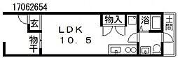 [テラスハウス] 大阪府大阪市東住吉区田辺5丁目 の賃貸【大阪府 / 大阪市東住吉区】の間取り