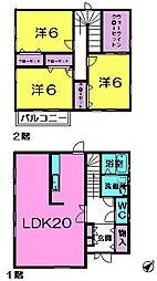 [一戸建] 奈良県生駒市西白庭台1丁目 の賃貸【/】の間取り