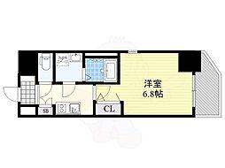 Osaka Metro千日前線 玉川駅 徒歩4分の賃貸マンション 2階1Kの間取り