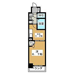 エステムプラザ京都烏丸五条[2階]の間取り