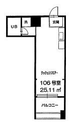 インペリアル広尾[1階]の間取り