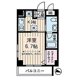 東京都世田谷区桜新町1丁目の賃貸マンションの間取り