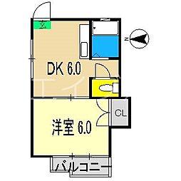 プリムローズ(桜馬場)[2階]の間取り