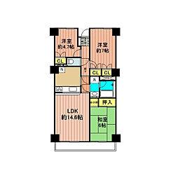 伊奈OCマンション[402号室]の間取り