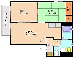 フォーレスト1[2階]の間取り