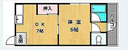 平田ハイツ[2階]の間取り