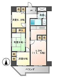 プライムガーデン[7階]の間取り