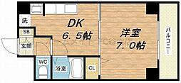 大阪府大阪市東成区大今里西1丁目の賃貸マンションの間取り