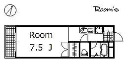 エクセル2[203号室]の間取り
