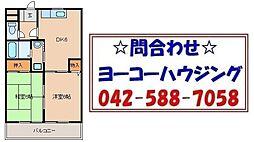 東京都西多摩郡日の出町大字平井の賃貸マンションの間取り