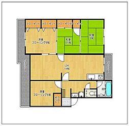 室見団地28棟[4階]の間取り