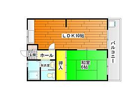 コーポ福井[1階]の間取り