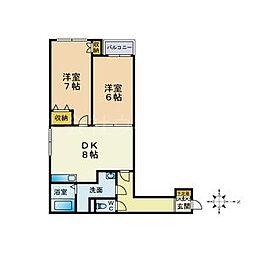 北海道札幌市中央区南七条西17丁目の賃貸マンションの間取り
