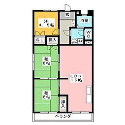 コーポ山崎[3階]の間取り