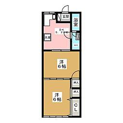 リバーサイドフジカワ[2階]の間取り