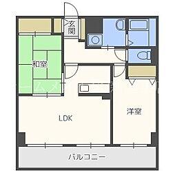 エクシード33[2階]の間取り