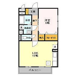 茨城県つくばみらい市陽光台3の賃貸アパートの間取り