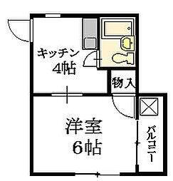 広島県広島市中区舟入南4丁目の賃貸マンションの間取り