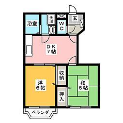 シャンボヌール[2階]の間取り