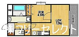 メゾンア・ラ・モード[9階]の間取り